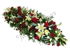 Red Rose and Lily Casket Spray